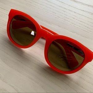 J Crew Red Sunglasses